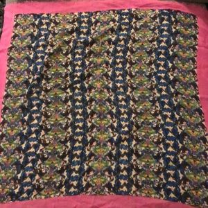 Madewell printed wool scarf.